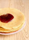 Crepes Under Cherry Topping