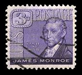 James Monroe Us Postage Stamp
