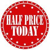 Half Price Today-label