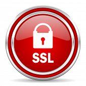 ssl red glossy icon