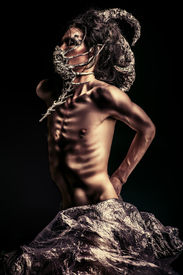 image of creatures  - Frightening mythical creature male - JPG