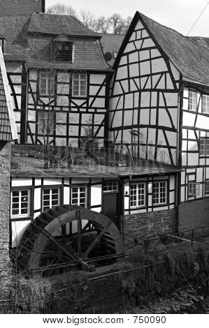 poster of Monschau - historic city in the west of Germany