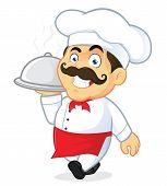 Chef Holding Silver Cloche