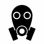 Gas Mask Icon On White Background