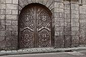 san agustin church door