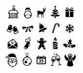 Collection of Christmas and winter icons