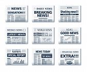 stock photo of newspaper  - Vector ball of newspapers - JPG