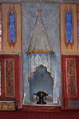 Bakhchisaray - circa September 2014: fireplace of harem in Bakhchisaray Crimea circa September 2014