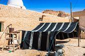 Typical tent Berber in Chebika Tunisia Africa