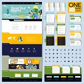 Creative Folder Style One Page Website Design