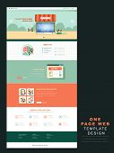 One Page Website Template In Flat