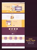 Flat Design One Page Website Template