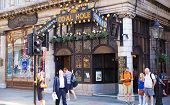 Famous public house on the Strand, in front of Savoy hotel