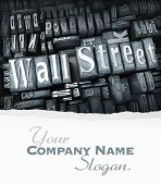 The words Wall Street written in print letter cases