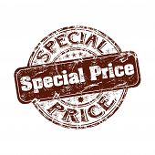 Special price grunge rubber stamp