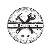 Under construction rubber stamp