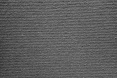 Texture Of Rough Fabric Or Canvas Black Color