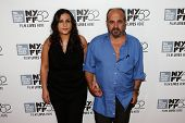NEW YORK-OCT 8: Director Ossama Mohammed (R) and Noma Omram attend the