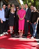 LOS ANGELES - OCT 29:  Big Bang Theory Cast at the Kaley Cuoco Star on the Hollywood Walk of Fame at the Hollywood Blvd on October 29, 2014 in Los Angeles, CA
