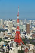 Tokyo Tower and Tokyo city view building at daytime