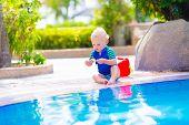 Baby At Swimming Pool