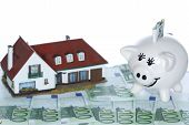Money House And Piggy Bank