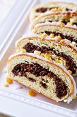 Poppy seed strudel for Christmas (Poland)