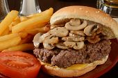 Msuhroom Bacon Burger