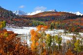 Early snow in San Juan mountains of Colorado