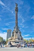 The Columbus Monument (mirador De Colom) In Barcelona