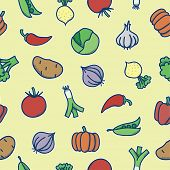 Seamless pattern - vegetables
