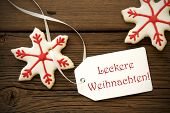 Leckere Weihnachten On A Label