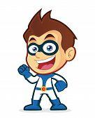 Excited superhero