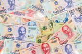 Vietnamese Money, Dong Spread Background