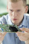 Hardware Expert Holding Processor
