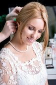 Pretty Bride During Wedding Preparations