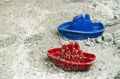 Ships in the sandbox.