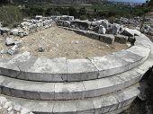 Round platform in ancient Caunos.