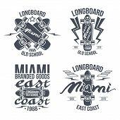 Longboard Retro Emblems