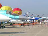 Airplanes at MAKS airshow