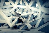 Abstract Digital Generated Chaotic Structure 3D Background