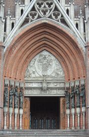 pic of christianity  - entrance to cathedral of La Plata - JPG