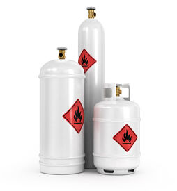 pic of gases  - Cylinders with the compressed gases on a white background - JPG