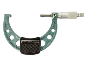 pic of micrometer  - The green micrometer on a white background - JPG