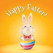 pic of easter eggs bunny  - Happy Easter - JPG