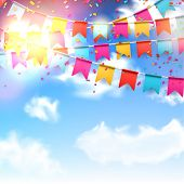 image of blue  - Celebrate banner - JPG