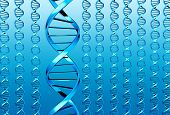 picture of double helix  - Many blue DNA  - JPG