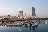 picture of kuwait  - Souk Sharq Marina and Kuwait City at dusk Middle East Arabia - JPG