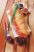 stock photo of french curves  - sandwich  - JPG