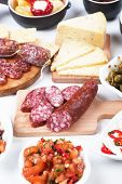 image of antipasto  - Tapas or antipasto food - JPG